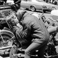 Love on a motorcycle, from Haight-Ashbury 1967