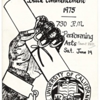 Black Commencement 1975. Program.