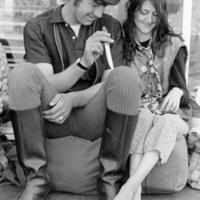Gypsy couple with knife, from Haight-Ashbury 1967
