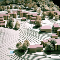 Oakes College (College Seven): model prepared for environmental impact report