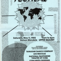 Multicultural Festival Poster. Nelson Mandela speaks at UCSC. May 11, 1985.