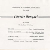 Charter Banquet program, 1963