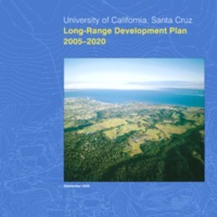 Cover of UCSC Long-Range Development Plan 2005-2020