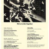 Women of Color Conference, February 20, 1993. Poster.