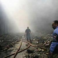 Al-Mutanabbi car bomb wreckage<br />
