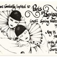 Cowell College Spring Waltz Celebration Poster. 1979.