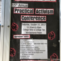 15th Annual Practical Activism Conference, College Ten, 2017