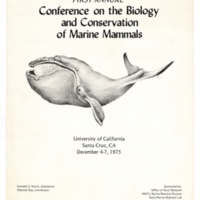 Conference on the Biology and Conservation of Marine Mammals, program. 1975.