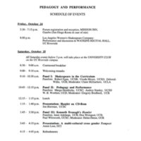 Pedagogy and Performance 1997