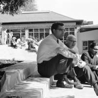 William Domhoff, psychology, Bert Kaplan, and Bhuwan Lal Joshi, professors of psychology, at Cowell College. 1966.