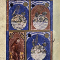 The Sarajevo Haggadah, The Creation, f. 2r