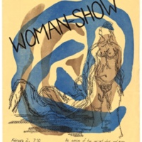 """Woman Show"" feminist theater. Barn Theater. February 1973. Poster."