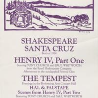Summer 1984 season poster