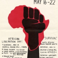 African Liberation Week. Poster. 1977.