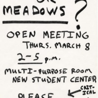 """Condos or Meadows?"" Anti-growth flyer. 1990."