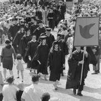 University of California, Santa Cruz: Commencement, June 1967: Quarry Amphitheater ceremony, exit procession