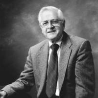 Portrait of Karl S. Pister. Circa 1990.