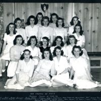Jean Harmon and members of the 1943-1944 pledge class of the Tri Delta sorority at University of Tulsa.