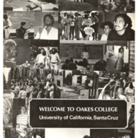 Welcome to Oakes College. Brochure. Circa 1980s.