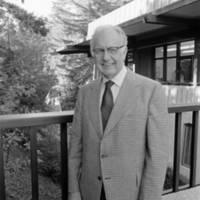 Angus Taylor, third chancellor of UC Santa Cruz. 1976.