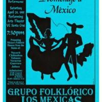 Grupo Folklórico Los Mejicas poster. 1995.