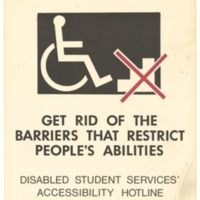 Disability Barriers. Poster.