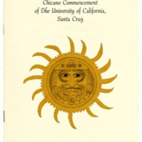 Chicano Commencement program cover, 1984.