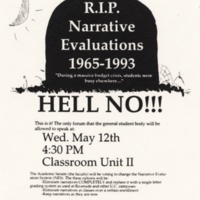 RIP Narrative Evaluations. Flyer. 1993.