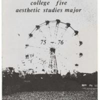 College Five Aesthetic Studies Major brochure cover. 1970s.
