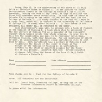 Funding appeal from the Committee for the Malcolm X College: May 1969