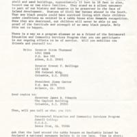 Daufuskie Island fundraising letter of appeal, 1973.