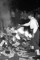 Nazi book burning, 1933.