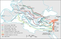 Map of the Crusades