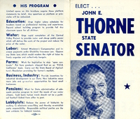Thorne Campaign Flier (1950)