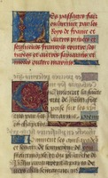 Rubricated bastarda Gothic script in Les Passages d'Outremer