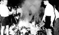 Nazi book burning, 1933.<br />
